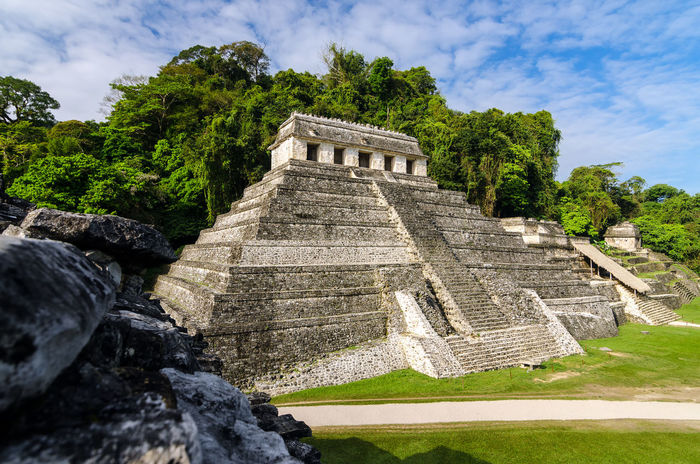 Temple of Inscriptions, the most important temple in the Mayan ruins of Palenque Ancient Architecture Chiapas Chiapas, México Christian Church Colonial Corzo Culture Destination Door Forest Historic Historical Jungle Landmark Latin Maya Mayan Mexico Old Palenque Pyramid Spanish Temple