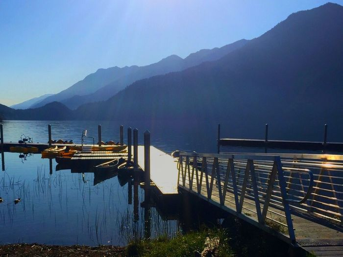 Lake Crescent, WA boats calm waters serene blue waters Iphonephotography IPhone 6+ Gorgeous Day