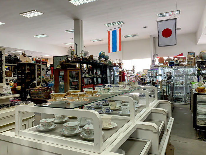 View of market for sale in store