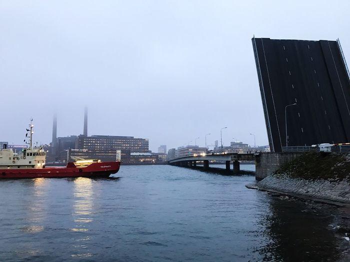 Folding Bridge at Lauttasaari