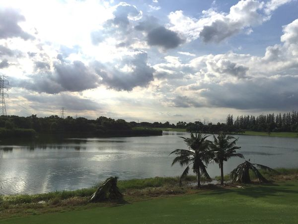 Water Sky Tree Lake Nature Cloud - Sky Tranquility No People Beauty In Nature Scenics Outdoors Landscape Grass Day