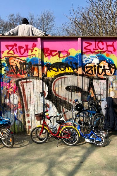 SUNday / Part 3: Never to old. Bicycles Color Of Life Skateboard Park Playground Volkspark Friedrichshain Berlin Love Berliner Ansichten Berliner Ansichten Streetphotography Sunday Afternoon City Life Multi Colored Graffiti Outdoors Stories From The City