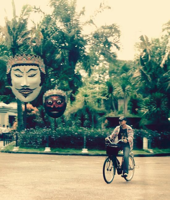Mask & human People And Places Cycling Riding Outdoors Transportation Masked People,