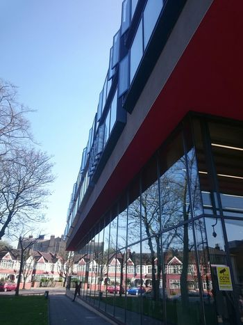 Built Structure Architecture Building Exterior Low Angle View City Clear Sky City Life Modern Outdoors Day Sky Tree London LONDON❤ College Days City And Islington C&I College North London England Britain London City