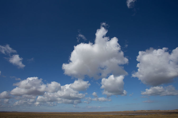 View north towards Blakeney Point from Morston, Norfolk, UK Blakeney Point Marsh Morston Creek Norfolk Uk Beauty In Nature Blue Cloud - Sky Cumulus Day Environment Horizon Horizon Over Land Idyllic Land Landscape Low Angle View Nature No People Non-urban Scene Outdoors Scenics - Nature Sky Tranquil Scene Tranquility White Color