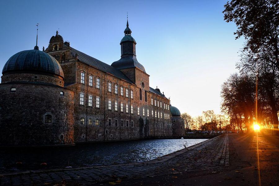 Vadstena Slott, sunset. Sweden Architecture Water Travel Destinations Sverige Fujifilm_xseries