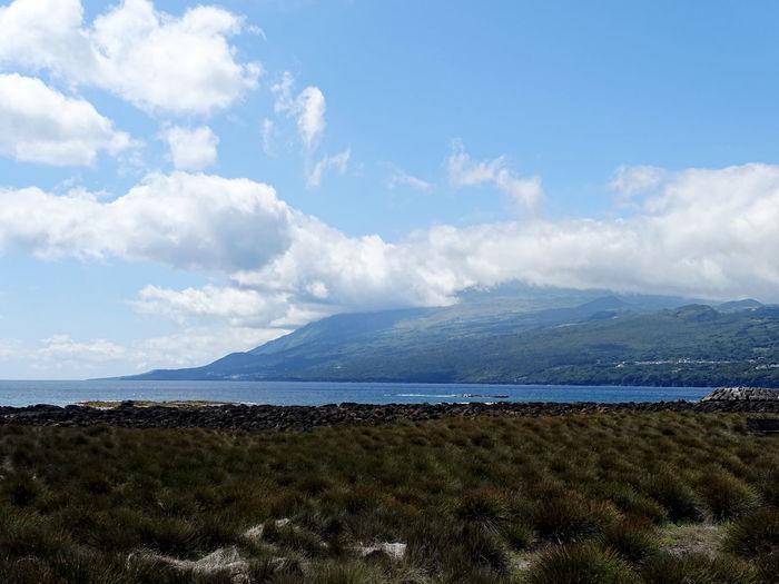 Azores Water Mountain Sea Beach Sky Cloud - Sky Landscape Mountain Range