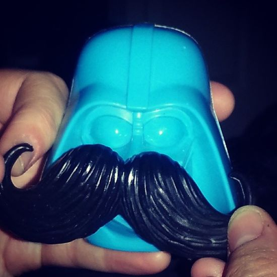 Darthvader with a Mustache Blue Stache starwars crooked curly fancy revengeofthestache