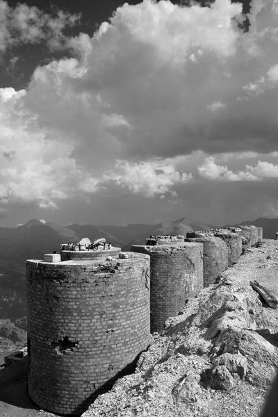 Alps Architecture Bricks Built Structure Chaberton Climbing Cloud - Sky Day Fortress Mountain Nature No People Outdoors Sky Summit Towers