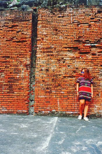 Brick Wall One Person Outdoors Philippines Asian  Intramuros| Philippines EyeEmNewHere Let's Go. Together. Sommergefühle EyeEm Selects