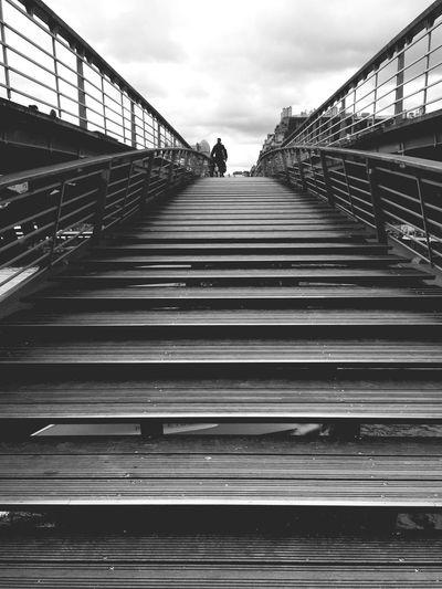 Footbridge In Diminishing Perspective