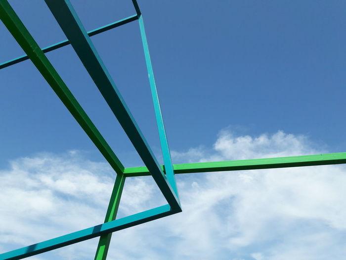 Fuengirola Spain Water Sky Cloud - Sky Suspension Bridge Bridge - Man Made Structure Steel Cable