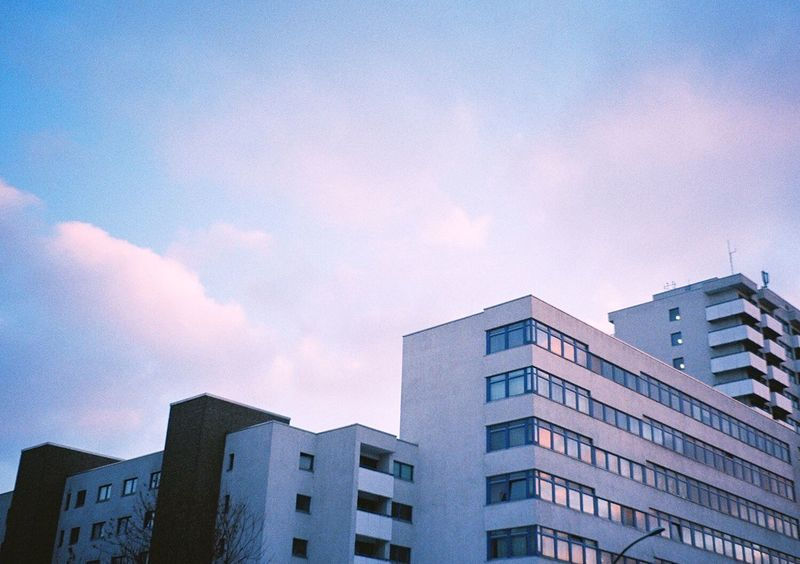 Potse Berlin Pink Sky Clouds Architecture Buildings 35mm Film Analog Filmisnotdead Colorlove Daydreaming Analogue Photography Pastel Power Capture Berlin