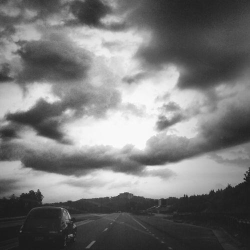 Way to work Sunset #sun #clouds #skylovers #sky #nature #beautifulinnature #naturalbeauty #photography #landscape Road