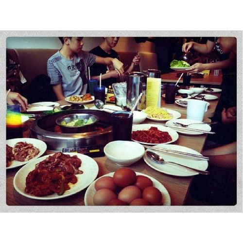 Seoul garden!!!! Woohoooo let's eat! With Royston, Raelene, Kevin, Rachel,caleb, zhihao, and birthday girl Rajeish!!!! Food Iamhungry Fatme