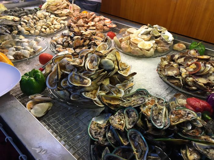 Oysters In Plates On Table