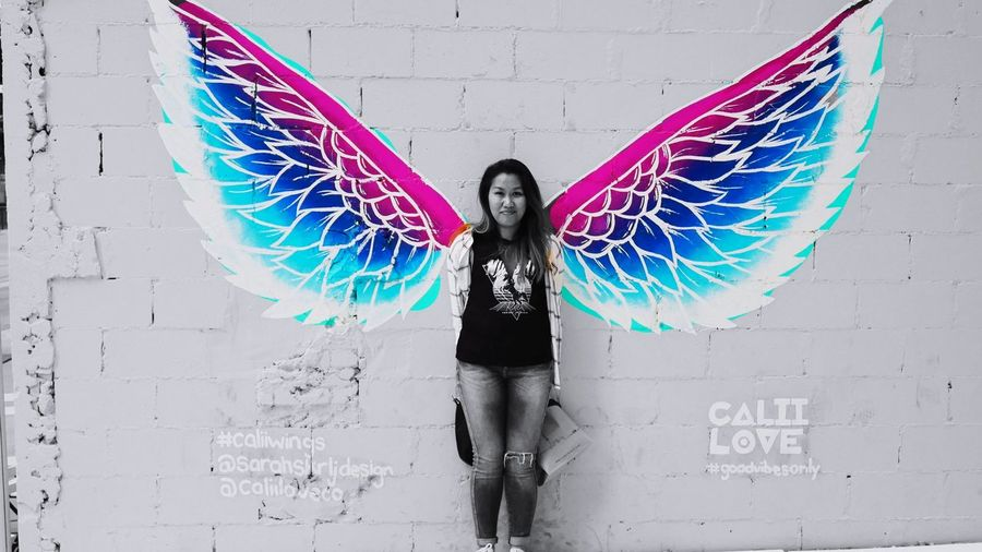 my wife, my love, my angel Photowalktheworld Colours People Watching Angel Color Pop Graffiti Art Toronto International Women's Day 2019 City Looking At Camera Front View Portrait Female Likeness Human Representation