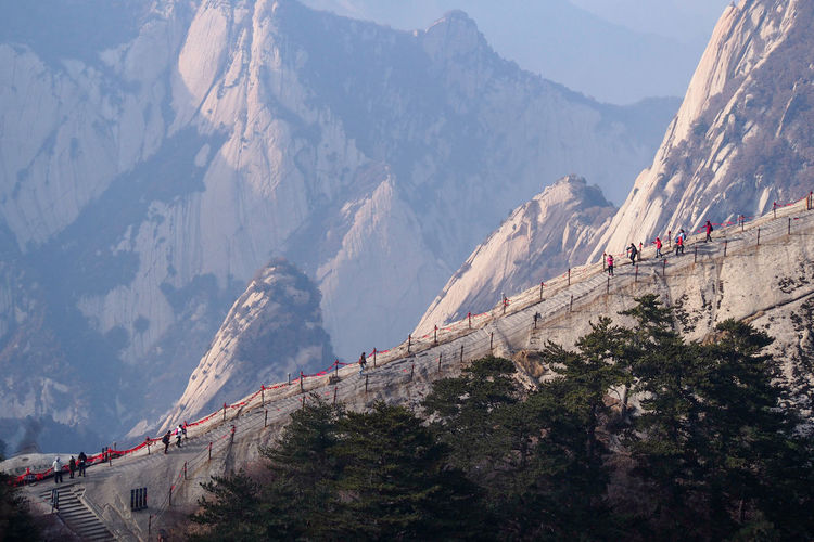 Stairway to heaven Huashan Mountain Xian Shaanxi China Travel Travel Destinations Mountain Traveling Landscapes Travel Photography Streamzoofamily Huashan Traveladdict China Photos Nature Outdoors Trail Photo Of The Day