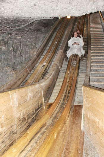 Salzwelten Hallein Salt Mine Hallein Österreich Austria Slide Down Rutsche Im Salzwerk Original Experiences Feel The Journey Enjoying Life Travel Photography Check This Out Natural Beauty Travel Destinations Structures & Lines Showcase June On The Way Adventure Club Athleisure