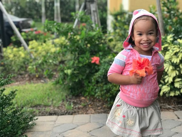 My daughter ZoeJesed ... bold sweetness... Childhood Flower Smiling One Person Outdoors Girls Looking At Camera Pink Color Portrait Day Cute Plant Growth Happiness Nature Child Real People Children Only People Nofilter#noedit IPhone7Plus Kidsfashion Kidsmodel