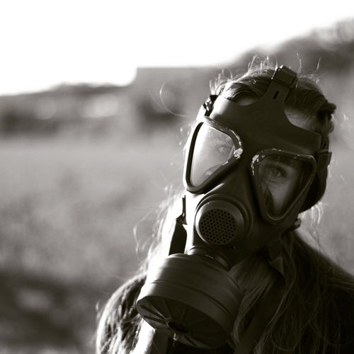 One Man Only Only Men Adults Only Protection One Person People Adult Dark Photography Dark Adults Only Adult Eyeglasses  Long Hair Only Women One Woman Only Tranquility Front View Arts Culture And Entertainment Outdoors Day Danger Gas Mask EyeEmNewHere