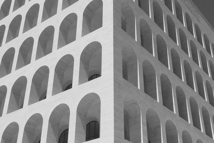 Low Angle View Of Palazzo Della Civilta Italiana