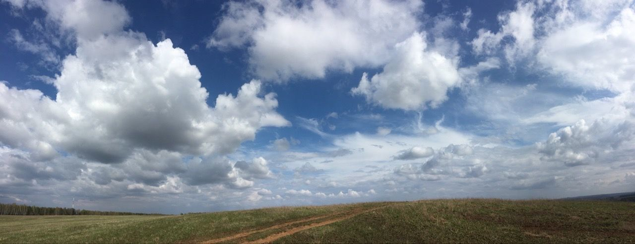 PANORAMIC SHOT OF ROAD AMIDST LAND AGAINST SKY