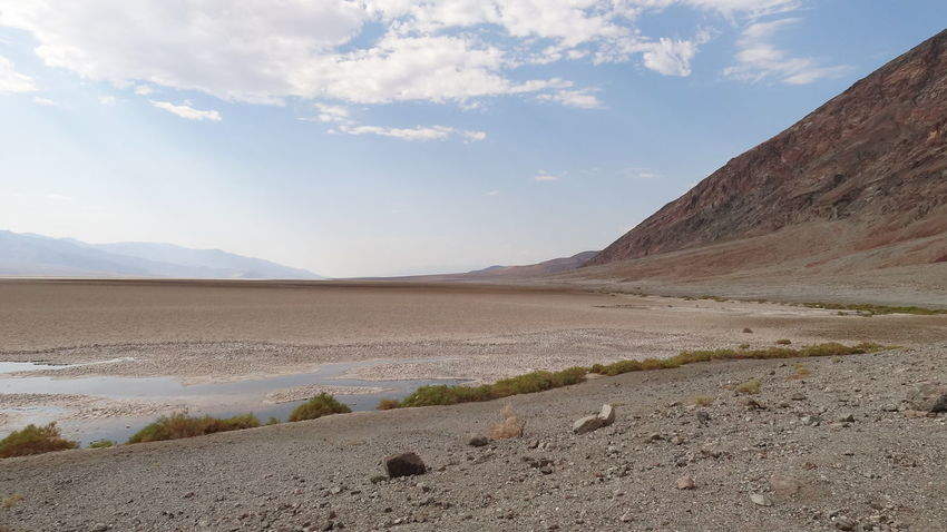 Arid Climate Beauty In Nature California Cloud - Sky Day Death Valley National Park Desert Landscape Mountain Mountain Range Nature No People Outdoors Physical Geography Salt - Mineral Salt Flat Sand Scenics Sky Tranquil Scene Tranquility Water