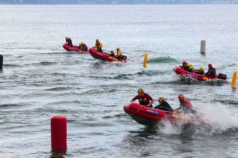 Adventure Club DLRG Germany Inflatable Boat Irb Lifeguards Rescue Rettungsschwimmer Scharbeutz Sea Training