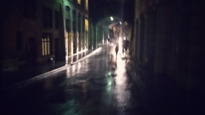 stranger in the rain Rain Storm Umbrella Woman Silhouette Night Light Contrast Filmic Water Night Building Exterior Outdoors Architecture People Adult One Person City