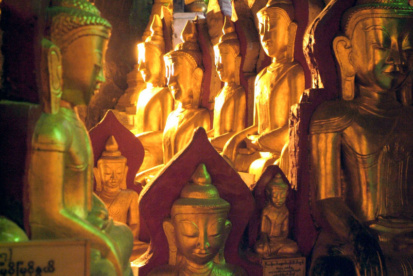 Buddha Golden Architecture Art And Craft Burma Close-up Day Human Representation Indoors  Low Angle View Male Likeness Myanmar No People Place Of Worship Religion Sculpture Spirituality Statue Staue  Travel Destinations