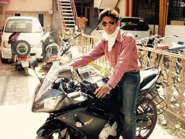 Old Pic  Yamaha R15 Black Color RayBans® Goggles Follow Me I'll Follow Back