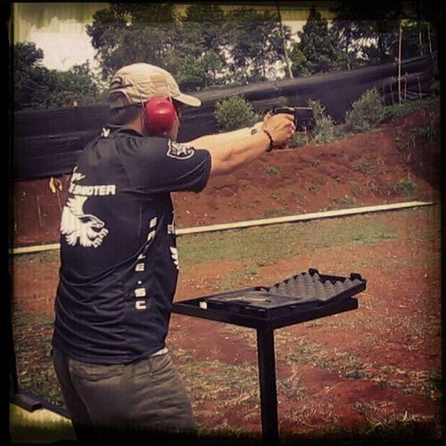 Shooting the target... @rajawali shooting range Shooting Eagle Shooting Club Indonesia Pistol Ipsc