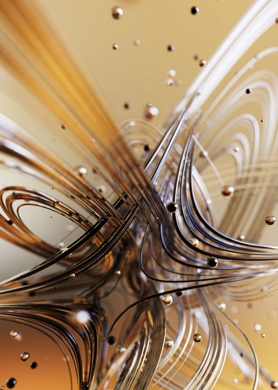 Digital composite image of spiral pattern against beige background
