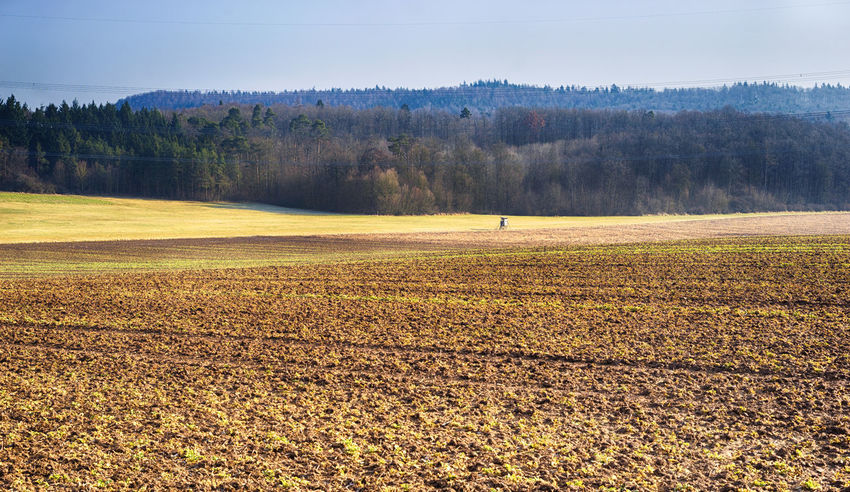 Rural landscape view Agriculture Bavaria Field German Nature Agricultural Land Agriculture Photography High Seat Hunter Seat Landscape No People Spring Springtime Summer