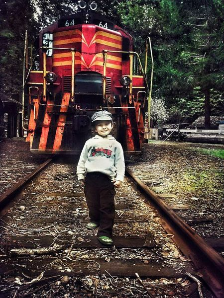 Train Tracks Trains & Railroad Children And Trains Looking At Camera Wilderness Area Outdoors Northern California Skunk Train Skunk Train Willits California To Fort Bragg California Trainphotography Children Photography Trainlover The Portraitist - 2017 EyeEm Awards Visual Feast