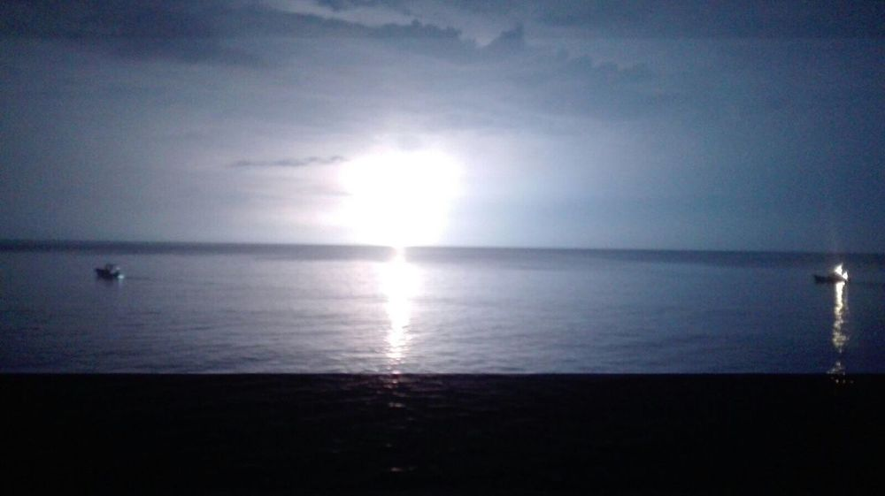 NIGHT LIGHTNING Horizon Over Water Sea Water Tranquil Scene Scenics Reflection Beauty In Nature Tranquility Nature Calm Sky Seascape Remote Outdoors Shore No People Coastline Solitude Trapani Italy