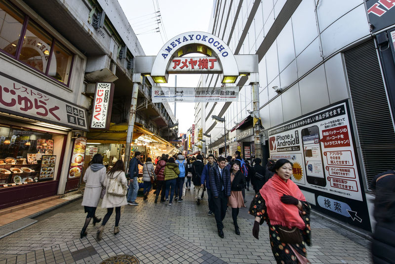 Adult Adults Only Ameyayokocho Architecture City Crowd Cultures Day Indoors  Japan Large Group Of People Men People Retail  Store Tokyo Women