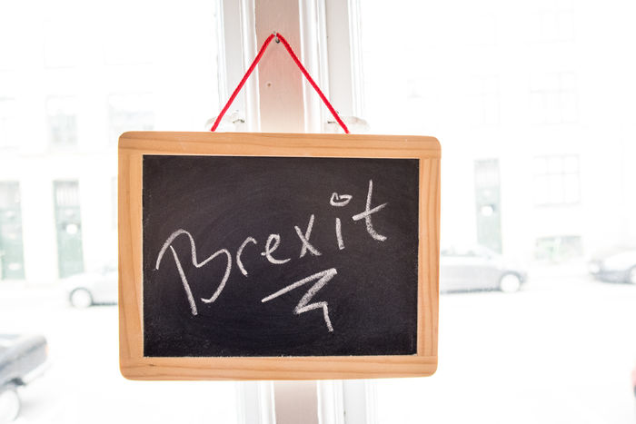 Brexit Chalk Board Close-up Communication Day Focus On Foreground Information Information Sign Message No People Selective Focus Text Western Script