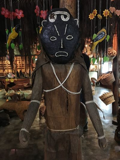 Ritual Custom Arts & Crafts Ritual Ceremony Rituals & Cultural Mask Aboriginal Art Aboriginal Piaroa Venezuela Statue Religion No People Sculpture Night Indoors  Close-up