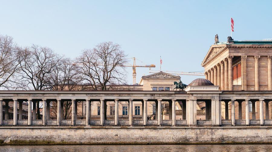 Bode-museum against clear sky in city