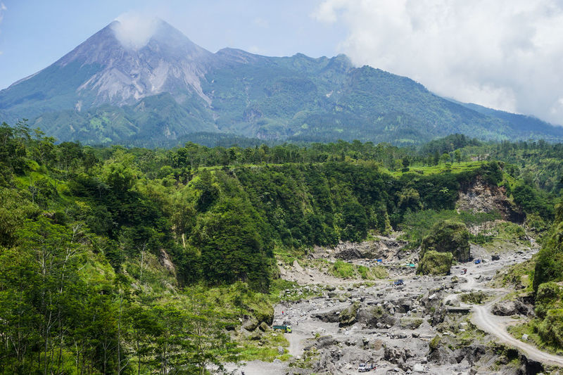 Mount Merapi Holiday Vacations Adventure Beauty In Nature Cloud - Sky Environment Green Color Indonesia Photography  Klaten, Jawa Tengah Land Landscape Mount Merapi Mountain Mountain Peak Nature No People Outdoors Plant Scenics - Nature Sky Travel Travel Destinations Tree Volcanic Crater Volcano
