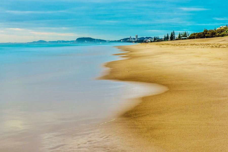 The Great Outdoors - 2017 EyeEm Awards Beach Sand Sea Shore Nature Scenics Water Sky Beauty In Nature Tranquil Scene Tranquility Day No People Landscape Cloud - Sky Outdoors Horizon Over Water Sand Dune Wave Neighborhood Map Gold Coast Australia Surfers Paradise, Australia