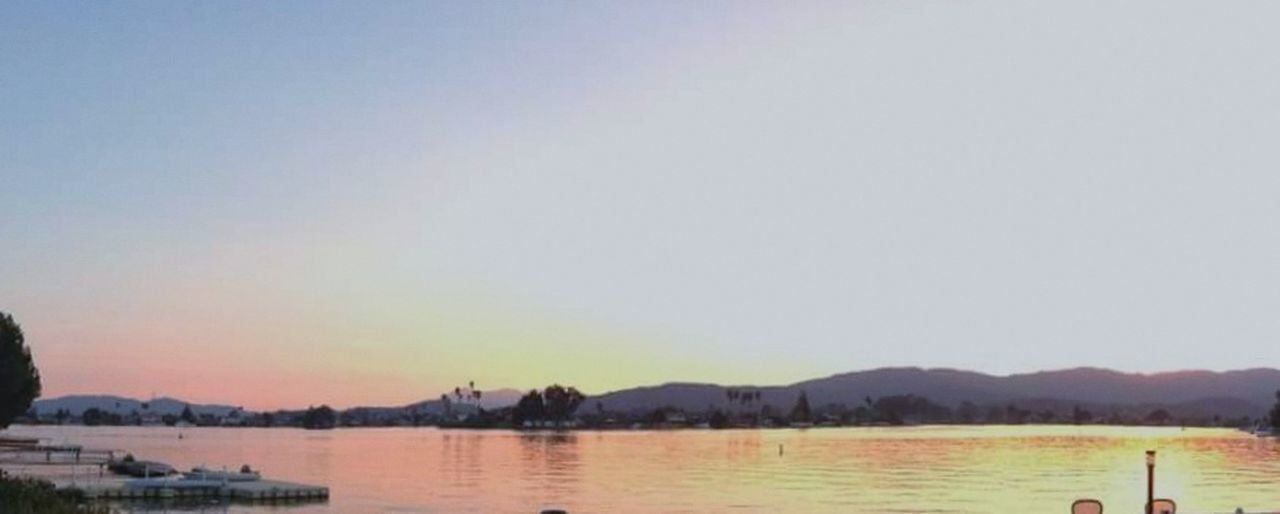 Sunset Outdoors Water Sky Clear Sky Multi Colored Tranquility No People Dusk Tranquil Scene Bel Marin Keys Lagoon Marin County CA Novato The Great Outdoors - 2017 EyeEm Awards