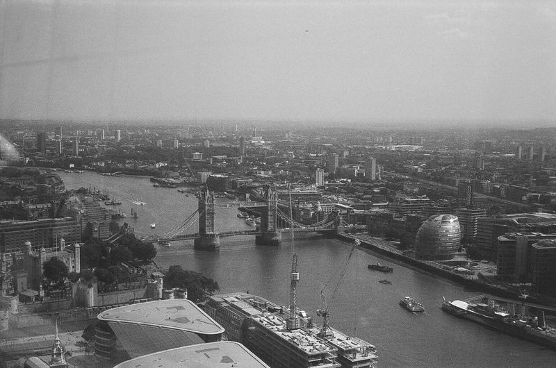 EyeEm LOST IN London Views from 20 Fenchurch street balcony 35mm Film Blackandwhite London Sky Garden