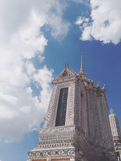 Watarun Temple Sky Cloud - Sky Architecture Thailand Bangkok Templeofdawn