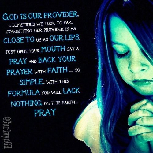 MySundayWord God is our provider... sometimes we look to far..forgetting our provider is as close to us as our lips, just open your mouth say a pray and back your prayer with faith .... so simple.. with this formula you will lack nothing on this earth... PRAY..... Nocopyandpaste Rightfrommyheart by the help of Textcutie to glorify the work of God upon my life instaGod prayer plus faith = winner
