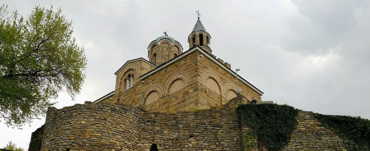 the tsarevets castle in veliko tarnovo, bulgaria Architecture History Business Finance And Industry Building Exterior Built Structure No People Outdoors Day Travel Destinations Tree Politics And Government Sky Tsarevets Bulgaria EyeEmNewHere VelikoTarnovo Church