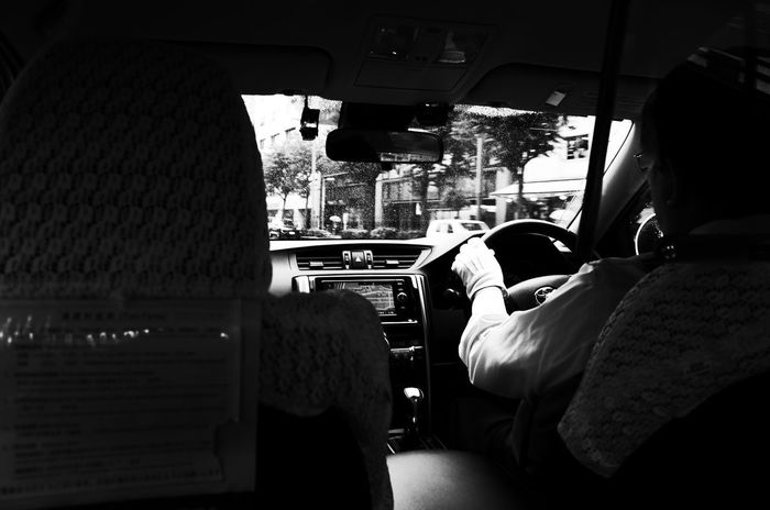 Japan Tokyo Taxi Mode Of Transportation Real People Vehicle Interior Transportation Indoors  Car Land Vehicle Men Rear View Travel Glass - Material Window Lifestyles Adult Sitting Motor Vehicle Transparent