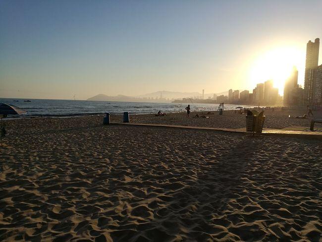 Sunset Beach Sunset Sand Sea Benidorm Family Benidorm, Spain